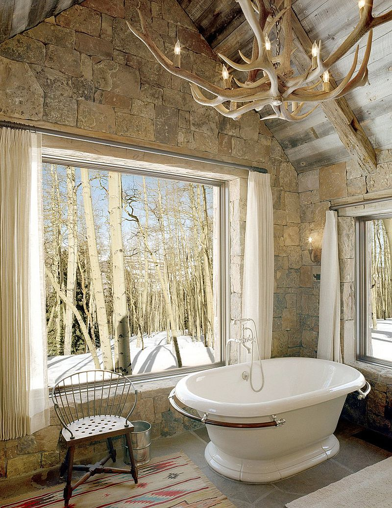 Image of: Interior Rustic Bathroom Decorations