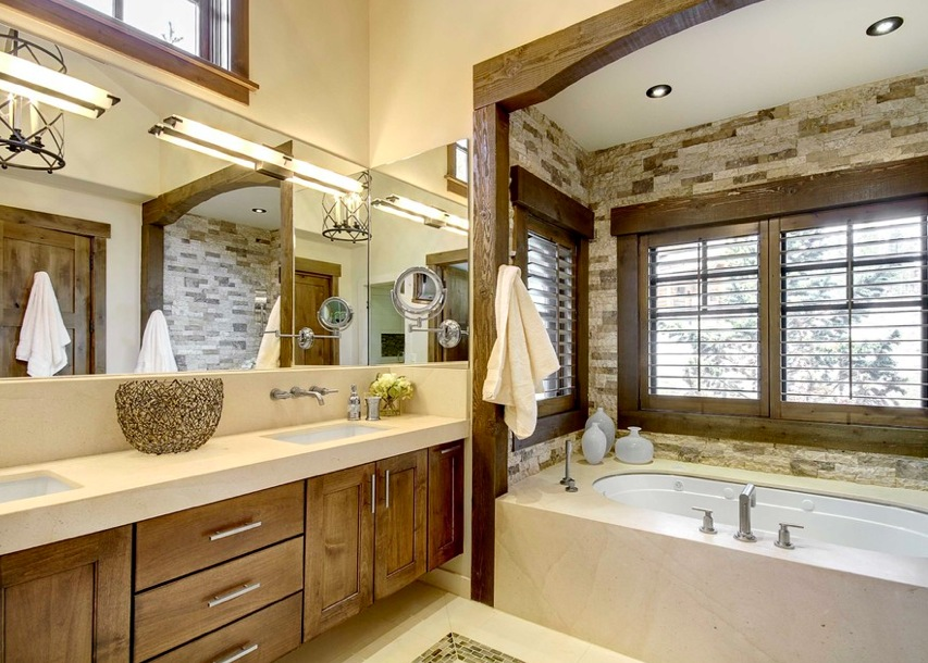 Image of: Modern Rustic Bathroom Decor