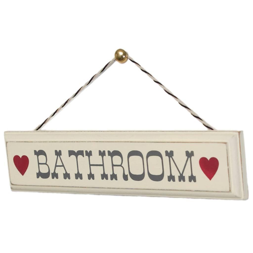 Rustic Bathroom Signs Model