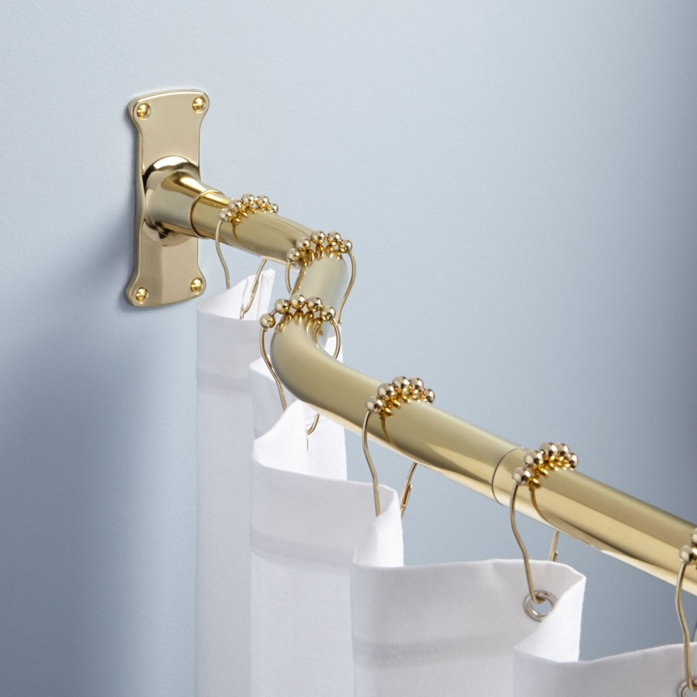 stylish-brass-shower-curtain-rod